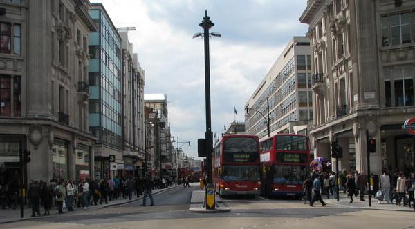 Intersectia cu Regent Street