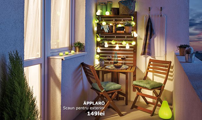ikea promoveaz mobilierul de balcon i terase nwradu blog. Black Bedroom Furniture Sets. Home Design Ideas
