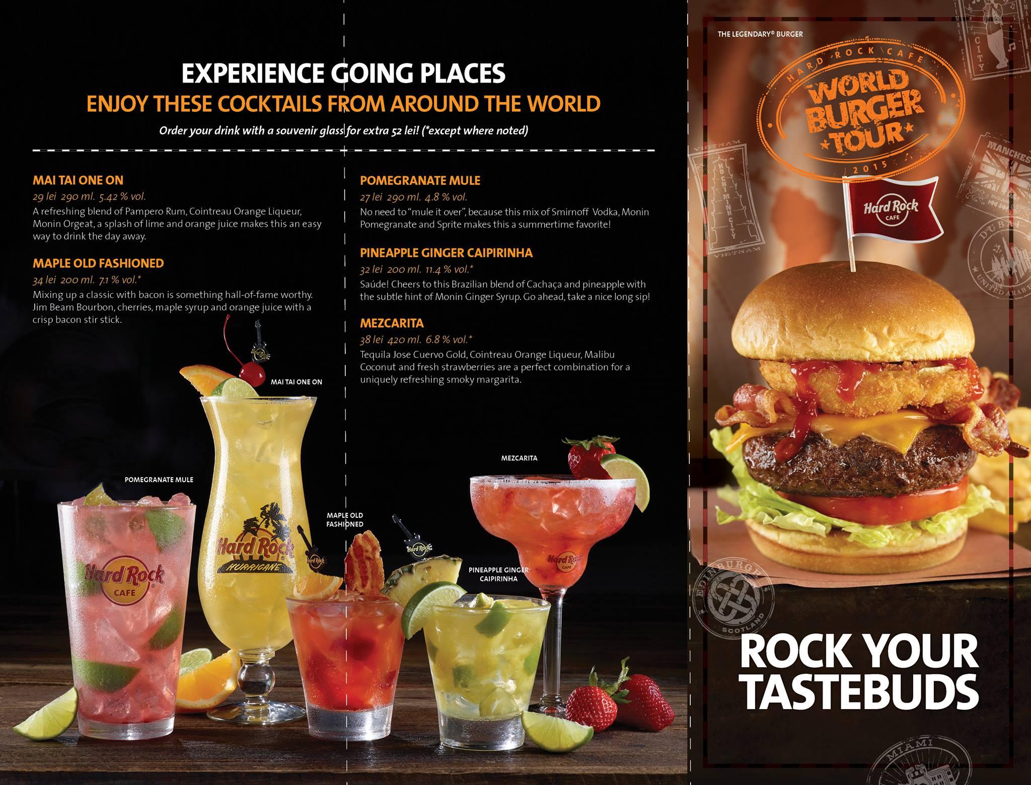 Hard Rock Cafe Meniu